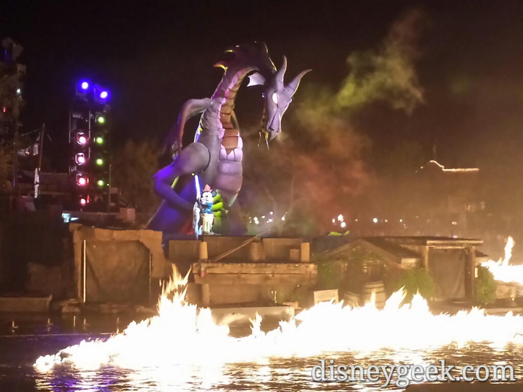 Mickey & Maleficent Dragon #Fantasmic #Disneyland