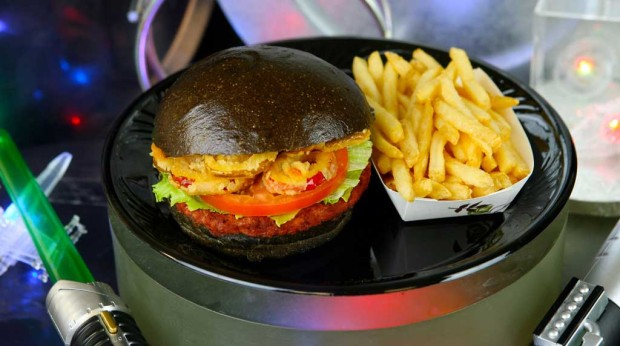 First Order Specialty Burger is tempting with a patty of angus beef and chorizo, topped with fried cherry peppers and spicy-lime aioli on a dark bun.