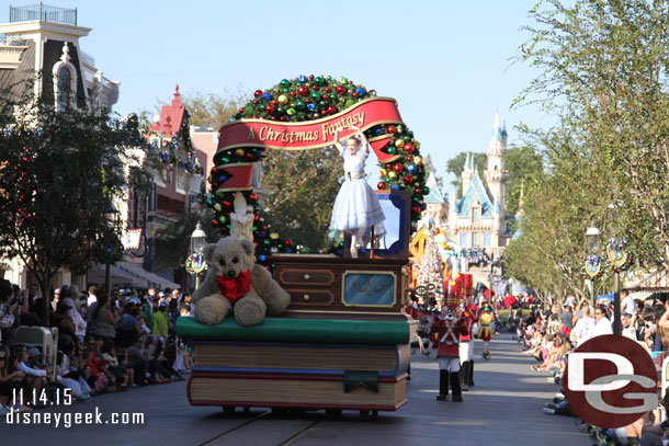 A giant music box leads off A Christmas Fantasy