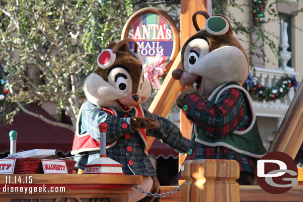 Chip and Dale on the Wrapping Room Float