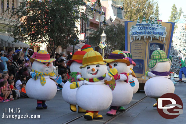 Snow people lead the way for the Winter Wonderland Section