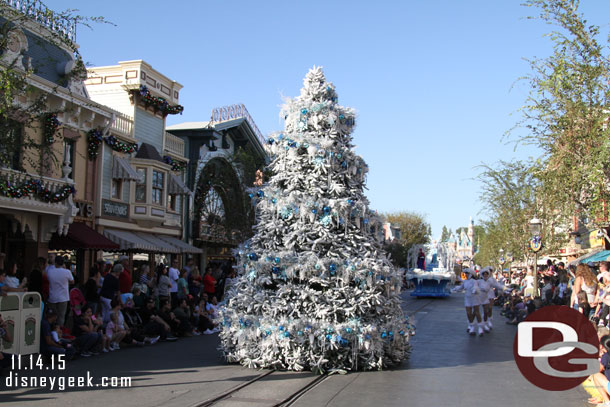 A large Christmas Tree in the Winter Wonderland section