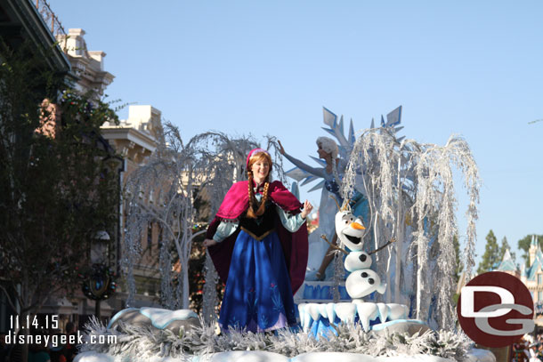 Anna, Elsa, and Olaf from Frozen