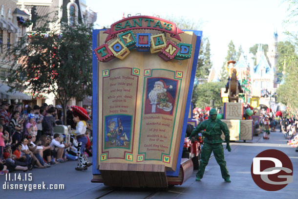Santa's Toyland features the Toy Story characters