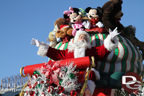 Santa on the finale float