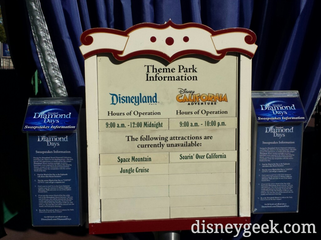 Closed attractions today at #Disneyland