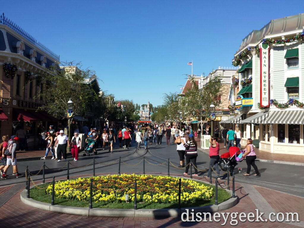 Main Street USA this afternoon #Disneyland