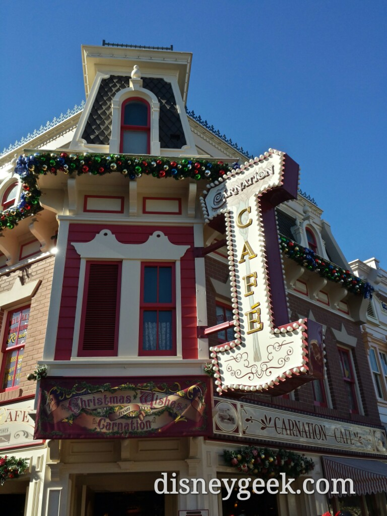 Carnation Cafe #Christmas decorations #Disneyland