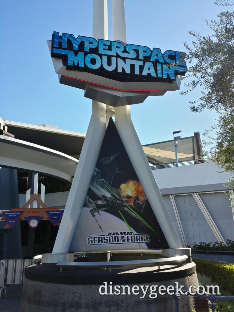 #HyperSpaceMountain & #StarWars Season of the Force signs #Disneyland