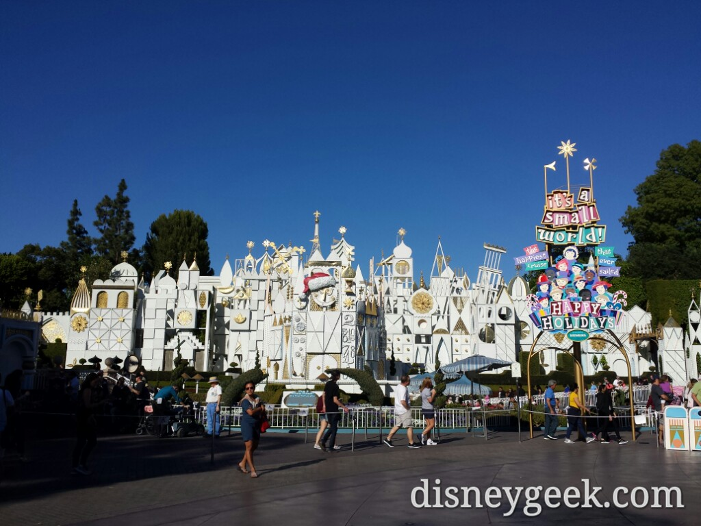 Small World Holiday opened today #Disneyland #Christmas