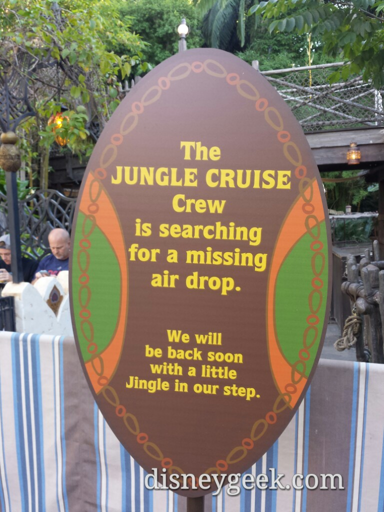 Jungle Cruise is close until next Friday when the #JingleCruise opens #Disneyland