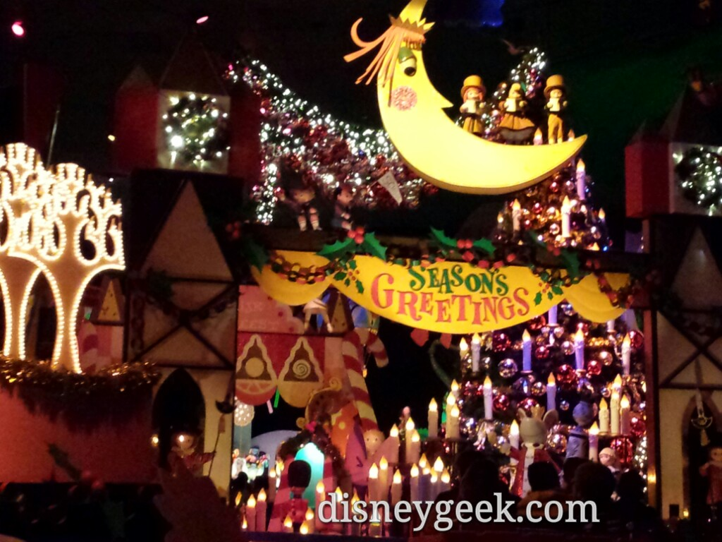 Seasons Greetings from it's a small world holiday #Disneyland #Christmas