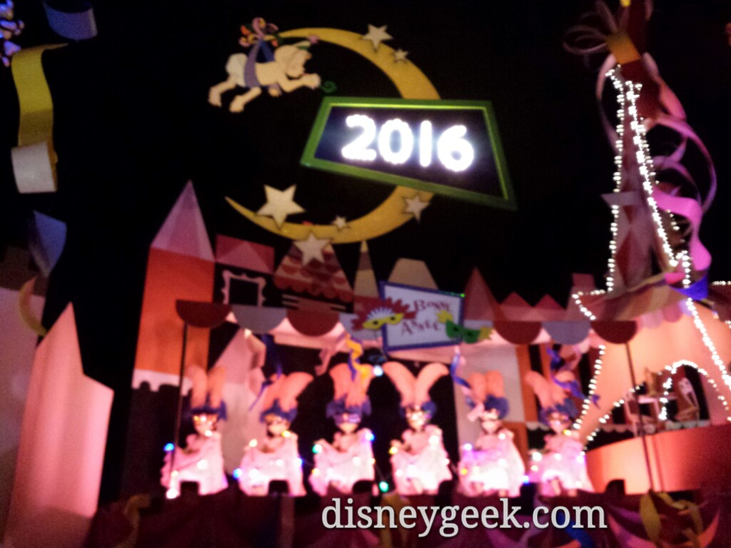 Ready to ring in 2016 on Small World Holiday #Disneyland #Christmas