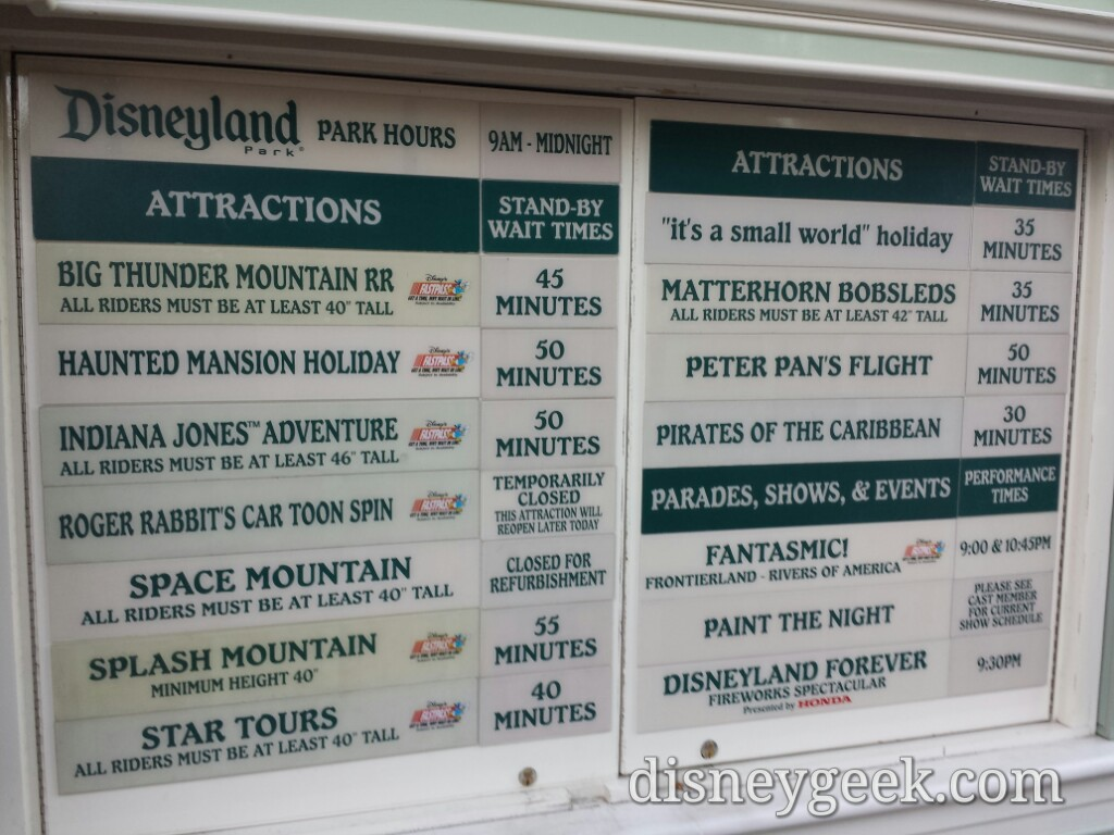 #Disneyland waits as of 4:29pm