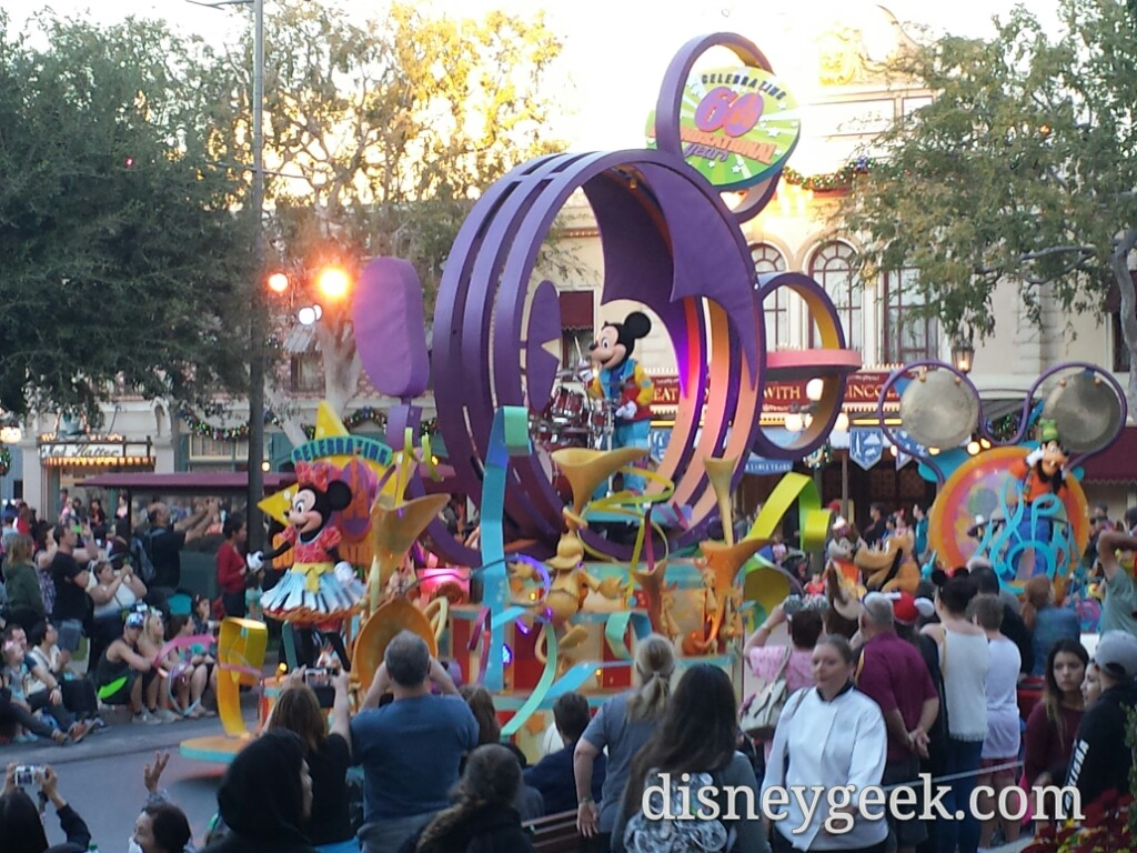 Mickey's Soundsational Parade in Town Square #Disneyland