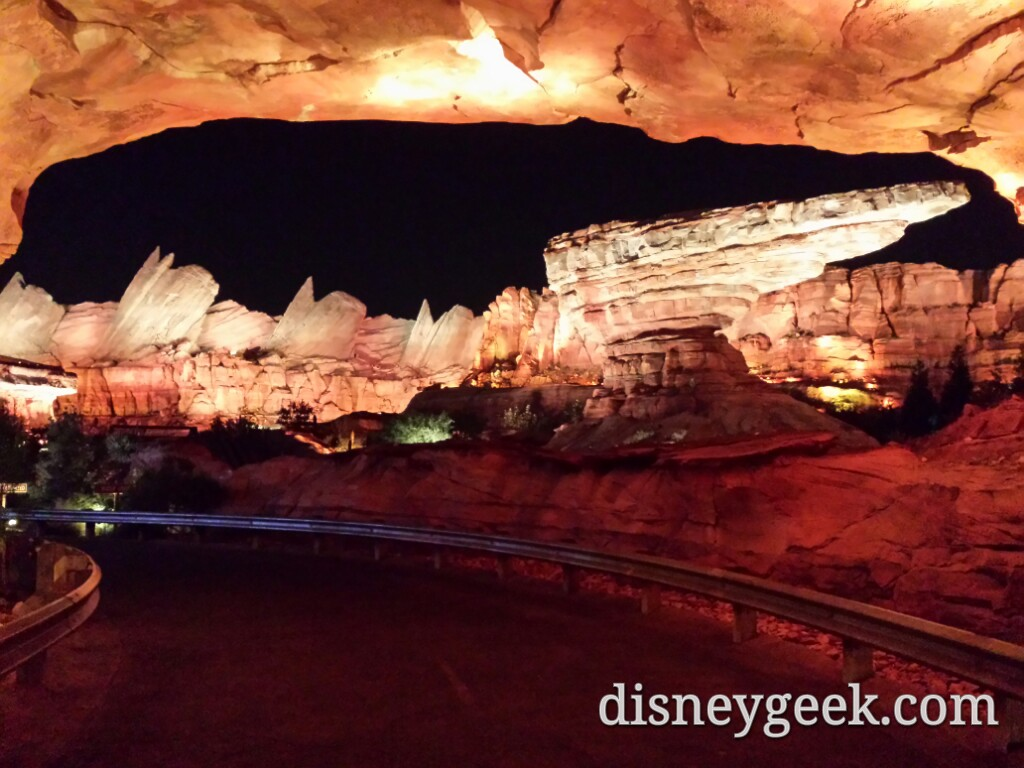Ornament Valley #CarsLand this evening at Disney California Adventure
