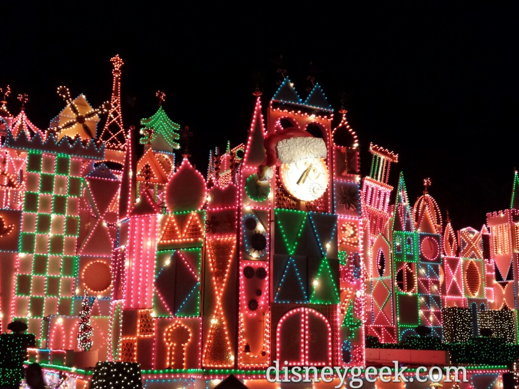 it's a small world holiday lights #Disneyland #Christmas