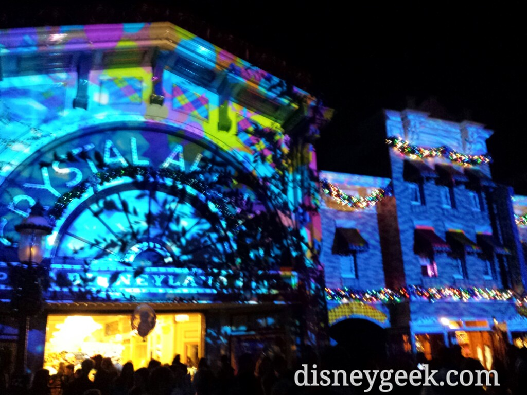 No #DisneylandForever tonight due to wind instead final projections