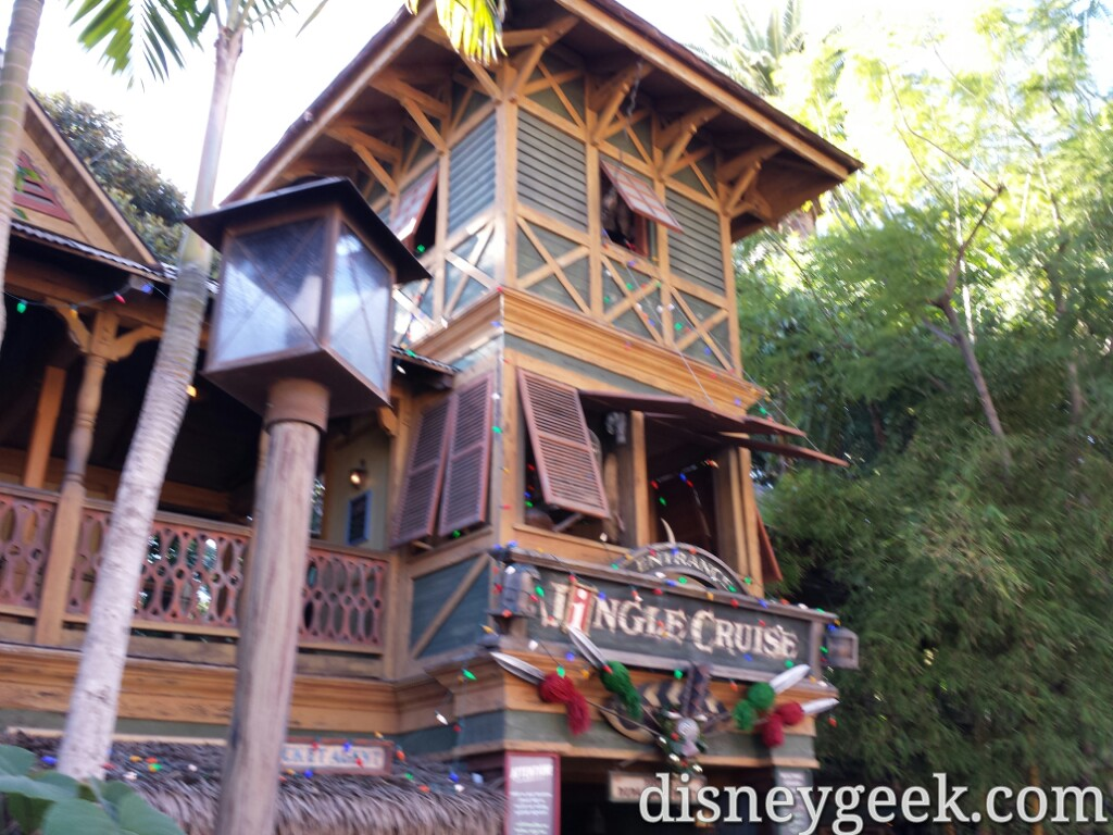 1st stop this morning Jingle Cruise #Disneyland #DisneyHolidays