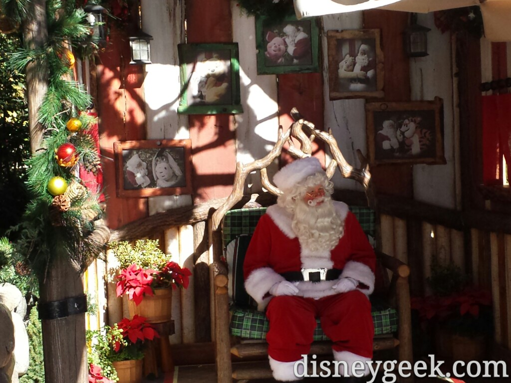Santa Claus is in Critter Country this year #Disneyland