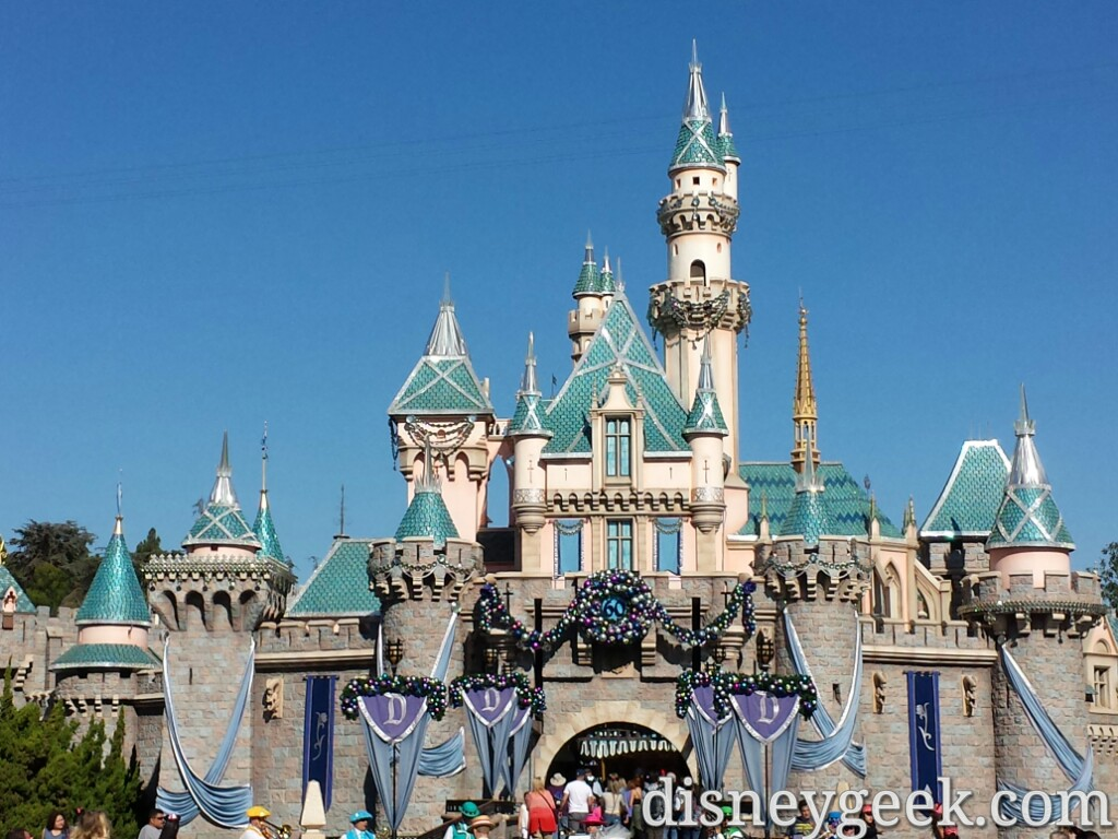Sleeping Beauty Castle #Disneyland decorated for #Christmas