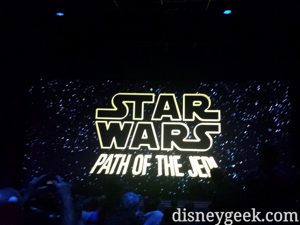#StarWars Path of the Jedi soft opening today #Disneyland #SeasonOfTheForce