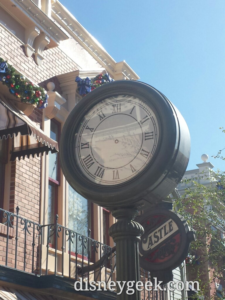 A little hard to tell time on Main Street USA #Disneyland this afternoon