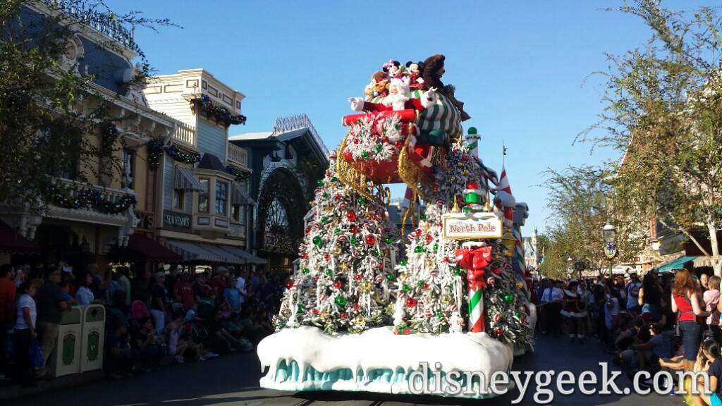 Santa in a Christmas Fantasy Parade #Disneyland