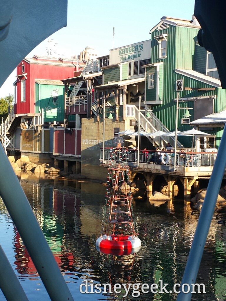 A buoy decorated for #Christmas @ Disney California Adventure