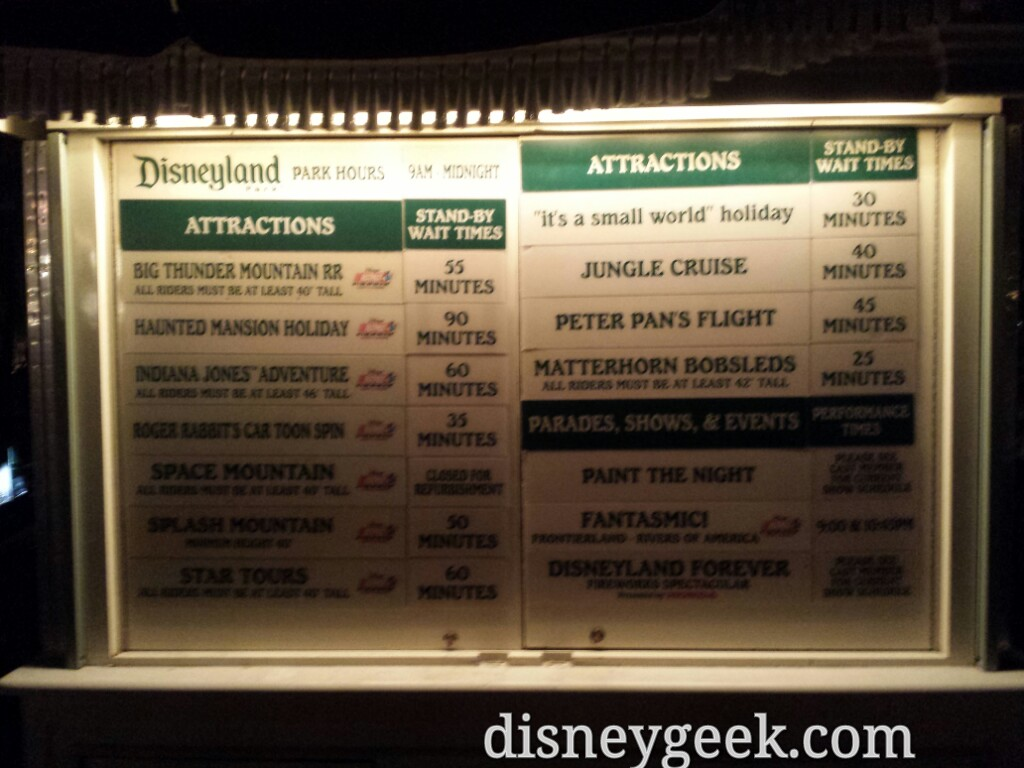 #Disneyland waits as of 5:37pm