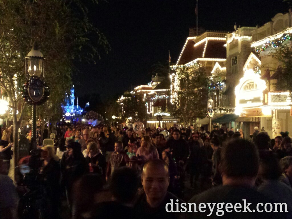 #Disneyland Main Street USA around 7pm
