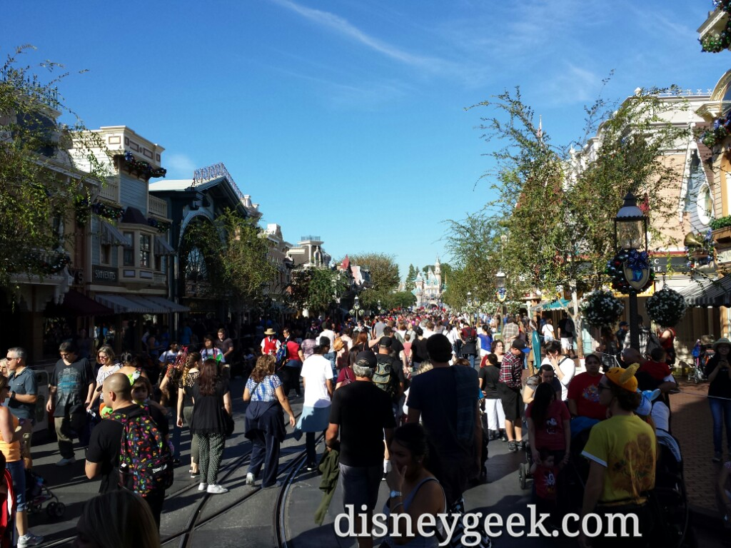 Main Street USA #Disneyland this afternoon