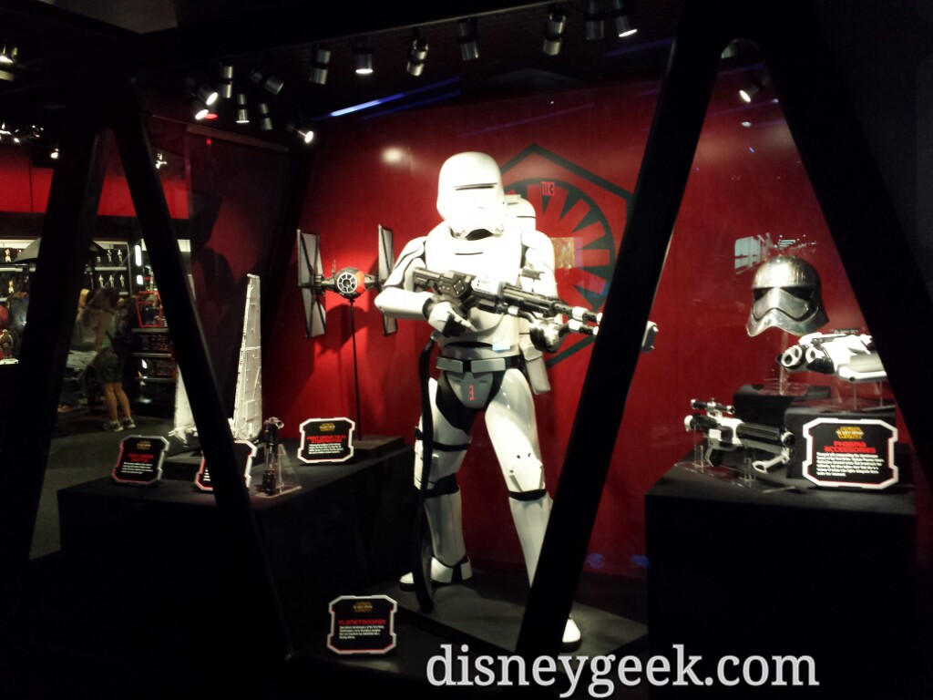 Movie props & costumes in the #StarWars Launch Bay #Disneyland