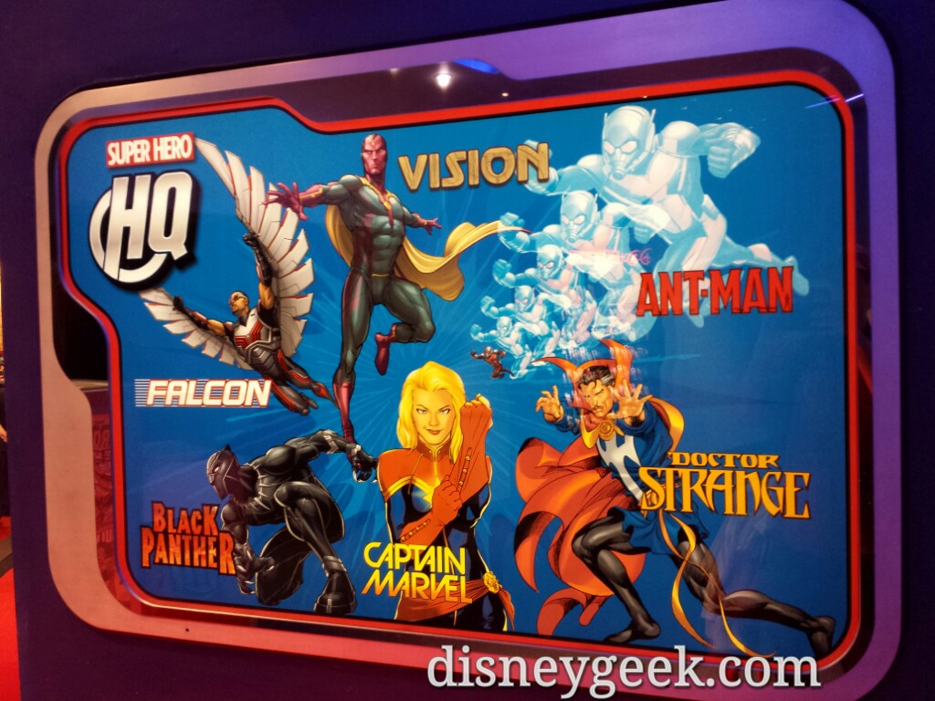 Super Hero HQ sign #Disneyland