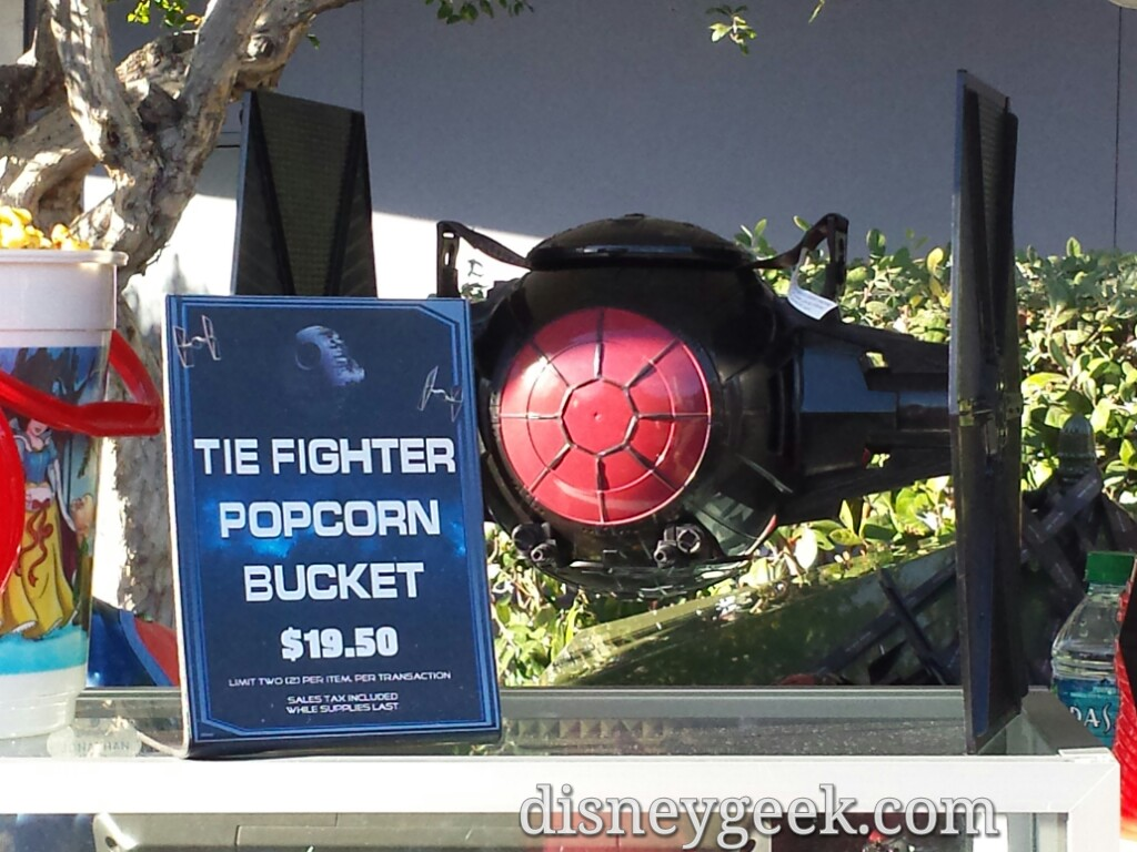 The Fighter popcorn buckets are available at #StarWars Season of the Force #Disneyland