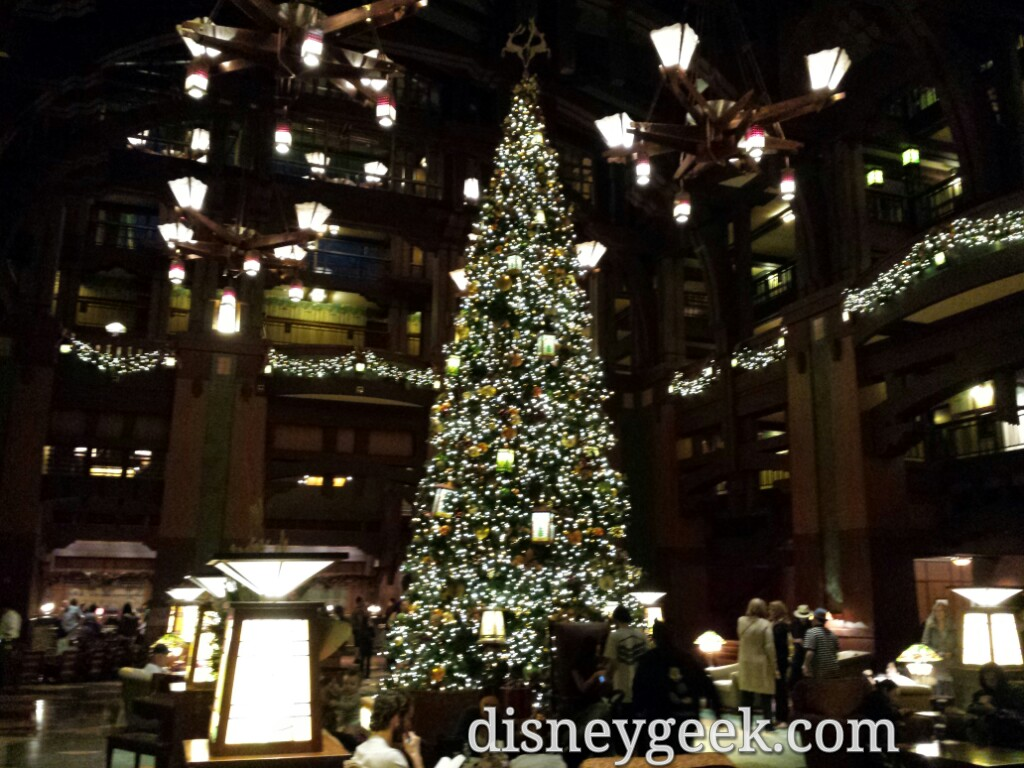 The Grand Californian lobby #Christmas tree