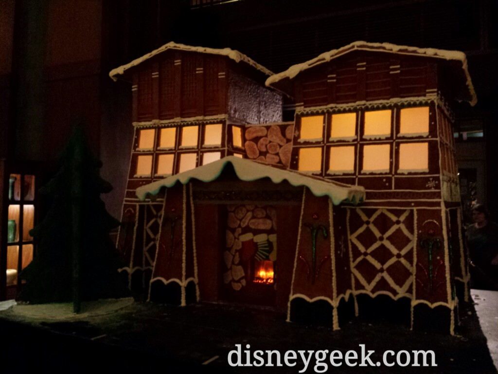Grand Californian gingerbread house is still under construction in the lobby