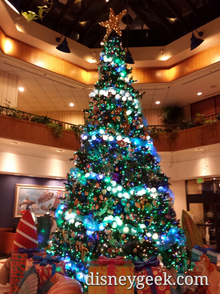 Paradise Pier Hotel #Christmas tree