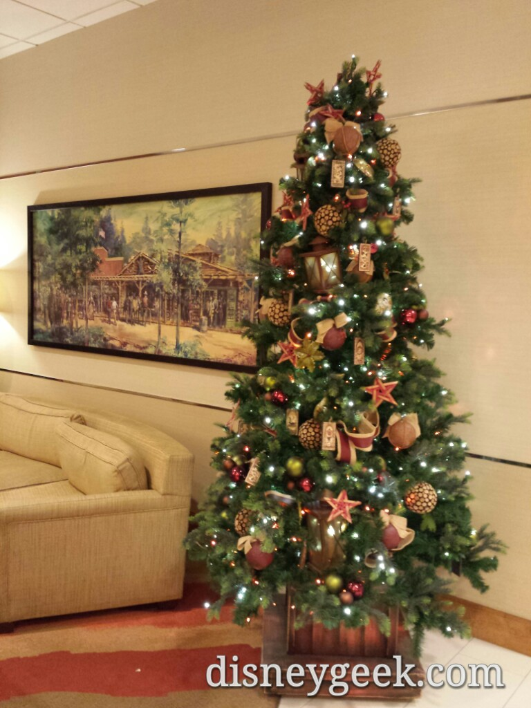 #Disneyland Hotel Frontier Tower #Christmas tree