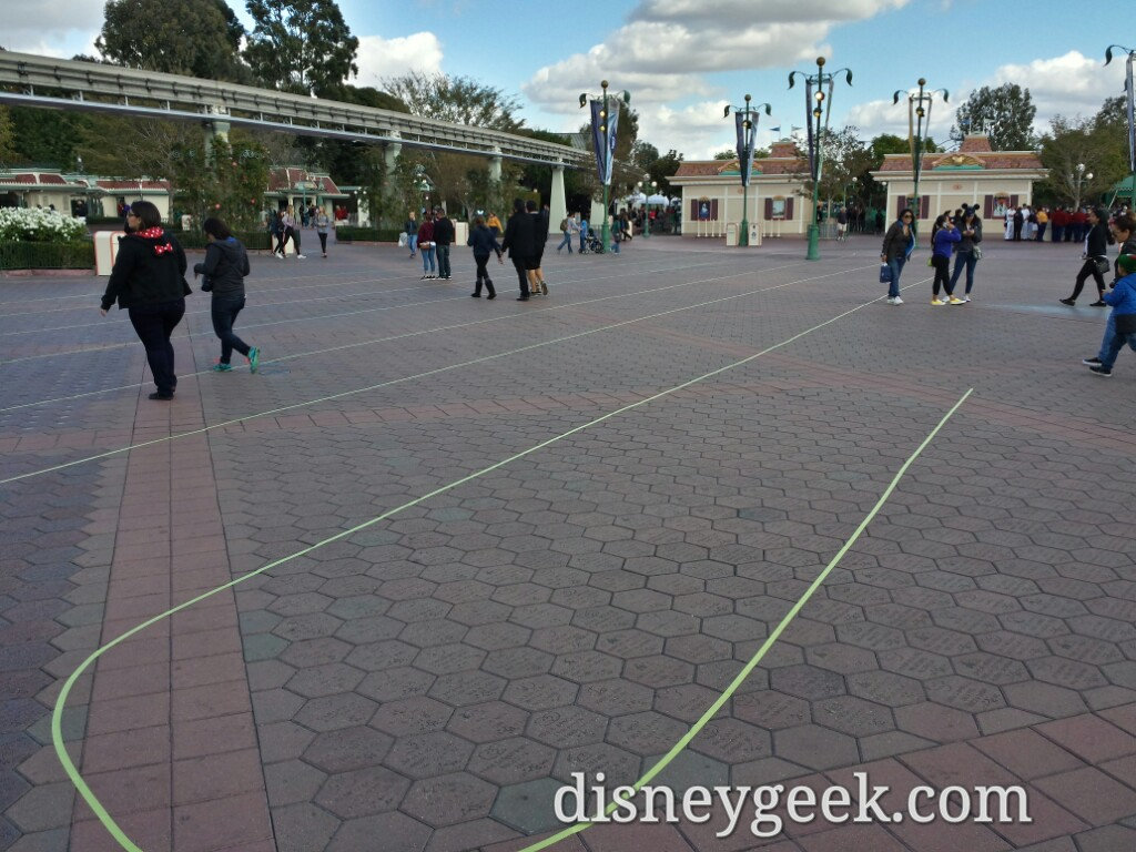 Preparing for large crowds or a sign of what is inside #Disneyland