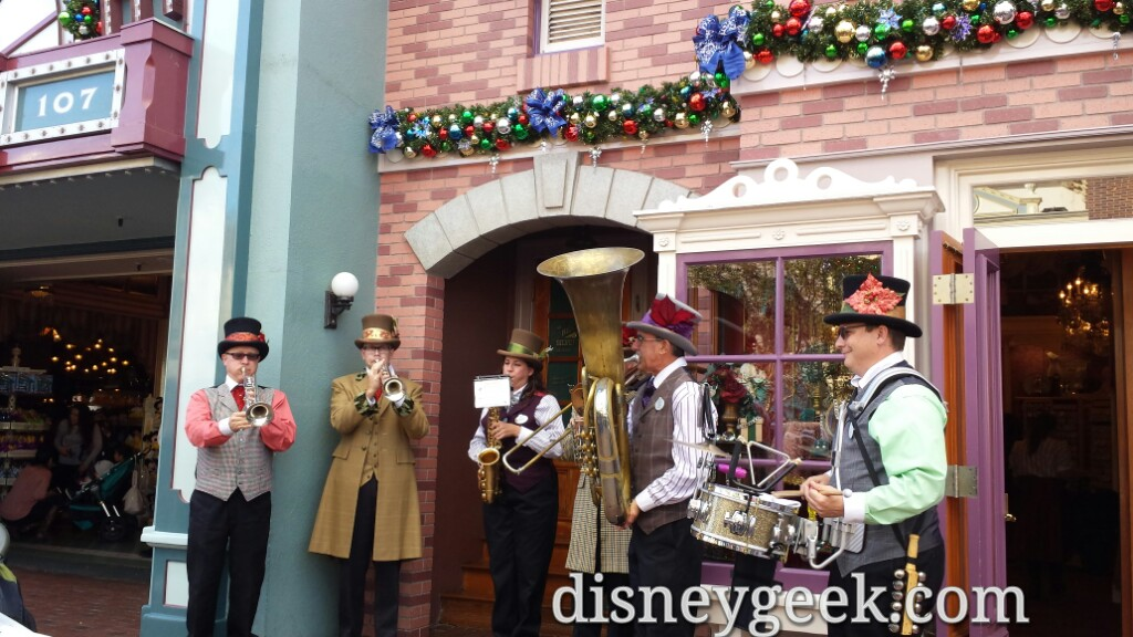 Dickens Yuletide Band on Main Street USA #Disneyland
