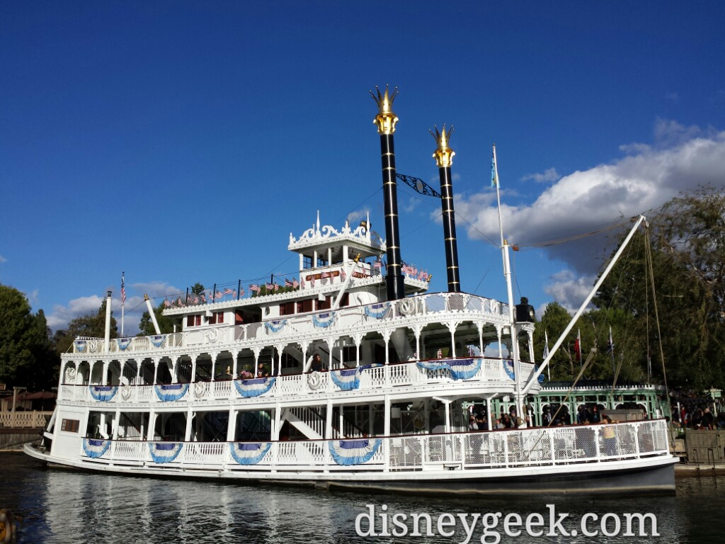 The Mark Twain preparing to depart #Disneyland