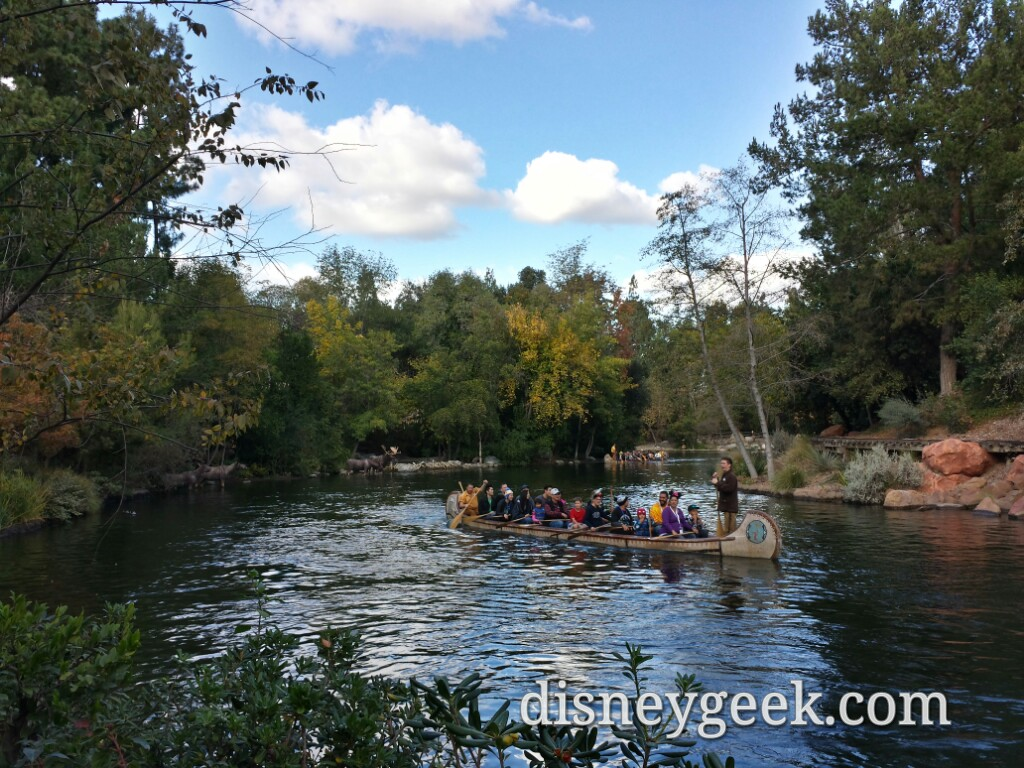 Canoes on the Rivers of America #Disneyland