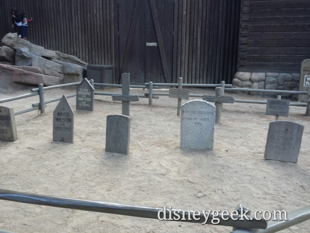 The graveyard behind the fort on Tom Sawyer Island #Disneyland