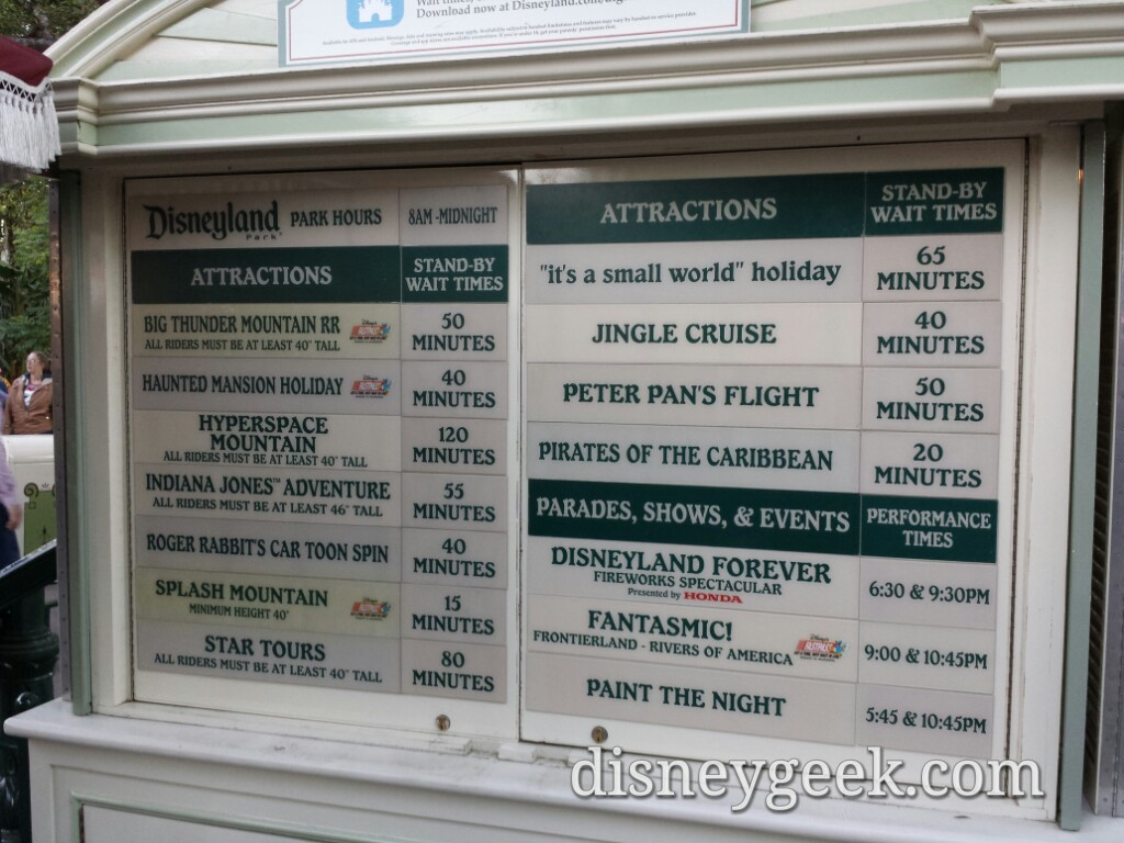 #Disneyland waits as of 4:35pm