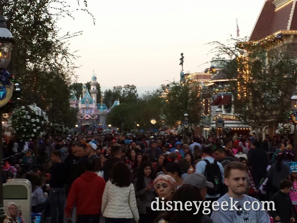 Main Street USA #Disneyland around 4:45pm