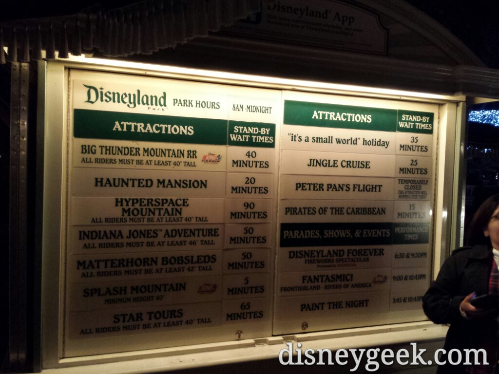 #Disneyland waits as of 7:03pm