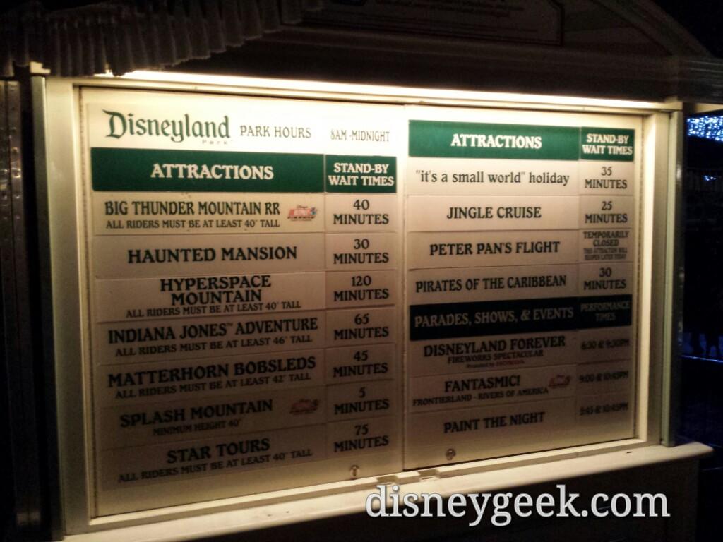#Disneyland waits as of 8:46pm