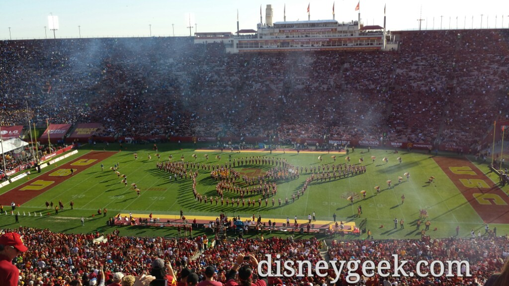 USC Band Star Wars Halftime Show (Video & Pictures)