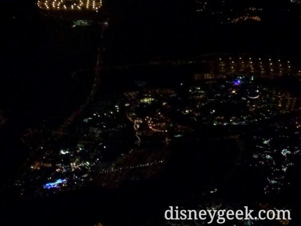 As we left the Orlando area we flew near Disney.